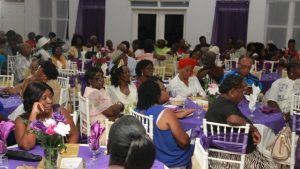 A section of seniors at the Gala and Awards Ceremony hosted by the Ministry of Social Development, Social Services Department Seniors Division at the Occasions Entertainment Arcade on October 31, 2017