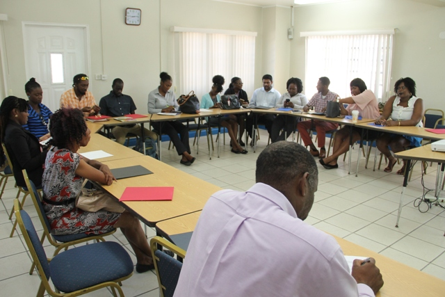 A section of participants at a workshop for small business owners at the Red Cross Building on November 13, 2017, hosted by the Small Business Development Unit in the Ministry of Finance in the Nevis Island Administration