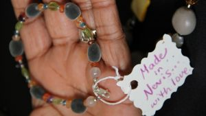 Local jewellery hand-made by an artisan on Nevis