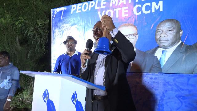 Hon. Vance Amory announces local election date at a public meeting in Church Ground on November 30, 2017