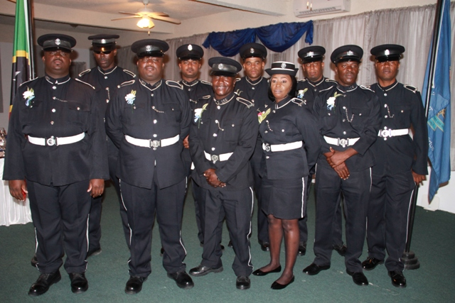 The 10 Constables nominated for the 2017 Constable of the Year award hosted by the Royal St. Christopher and Nevis Police Force, Nevis Division's at the 18th annual Constable's Award Ceremony and Dinner on March 10, 2018, at the Occasion's Entertainment Arcade at Pinney's Estate