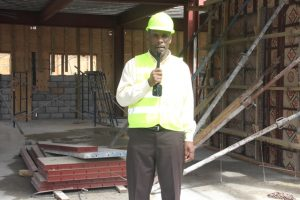 Mr. Colin Dore, Permanent Secretary in the Ministry of Finance at the Treasury Reconstruction Project in Charlestown on March 07, 2018