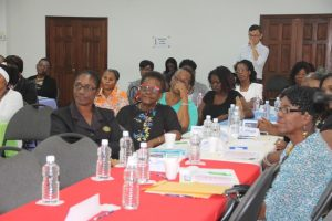 A section of the participants at the Department of Gender Affairs' Health is Wealth Seminar for Women and Girls at the St. Paul's Anglican Church Hall on March 08, 2018