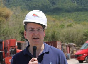 Mr. Daniel Pfeffer, President of Thermal Energy Partners the parent company of Nevis Renewable Energy International, who are contracted by the Nevis Island Administration to develop the island's geothermal resource