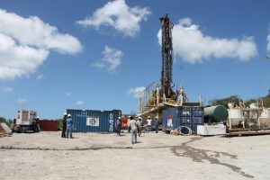 Drilling equipment for a test well at the geothermal development project site at Hamilton Estate (file photo)