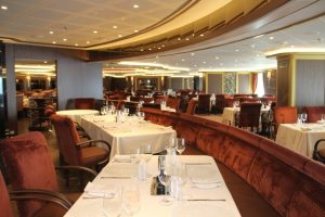 One of eight dining rooms on board the MV Silver Muse