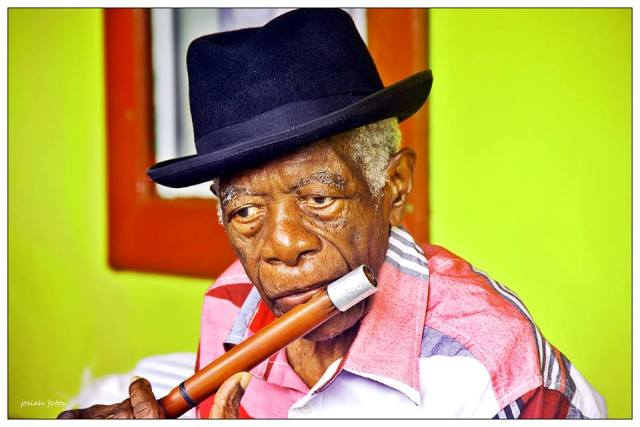 The late Mr. David Freeman, cultural icon in St. Kitts and Nevis (photo by Sylvester Josiah Meade)