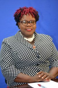 Hon. Hazel Brandy-Williams, Junior Minister of Health in the Nevis Island Administration delivering her address in observance of Nurses Week 2018 at NTv8 studios on May 09, 2018