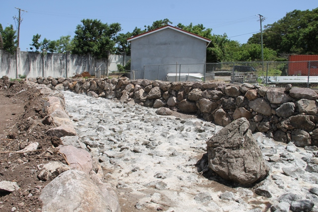 Ghaut reinforcement in Stoney Grove to mitigate flooding with funding from the Government of Japan (file photo)