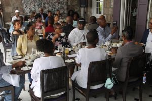 Members of the St. Kitts and Nevis Diaspora at the Premier's Business Breakfast at Montpelier Plantation and Beach Club on Thursday, June 28, 2018