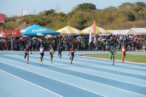 A race at the 28thGulf Insurance Interprimary Schools Athletics Championship   at the Long Point sporting facility on March 28, 2018 (file photo)