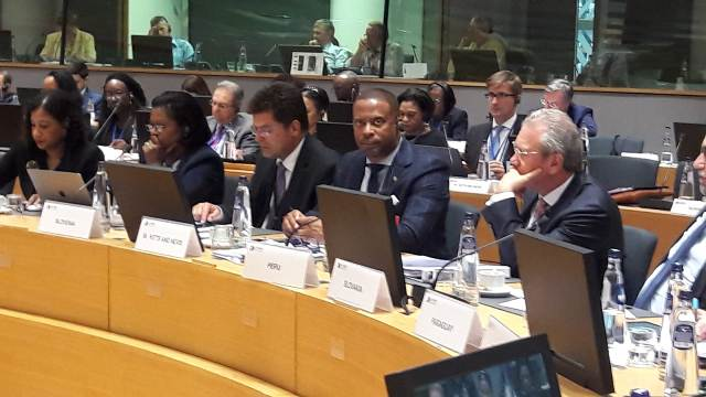Hon. Mark Brantley, Minister of Foreign Affairs at the European Union and the Community of Latin American and Caribbean States meeting in Brussels on July 16, 2018