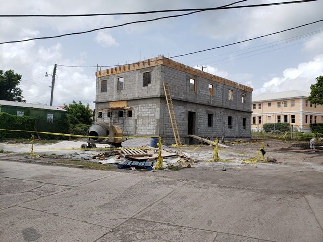 The command centre for the Federal Closed Circuit Television project on Nevis under construction in Charlestown on July 27, 2018