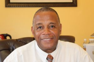 Hon. Eric Evelyn, Minister responsible for Social Development on Nevis at his office on August 23, 2018