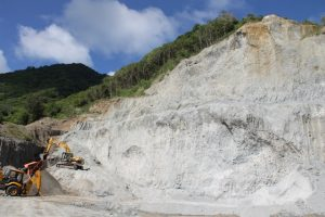 Operations at the government owned quarry at New River (file photo)