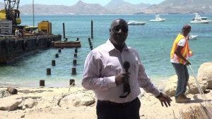 Hon Alexis Jeffers Deputy Premier of Nevis at Oualie Bay on August 22, 2018