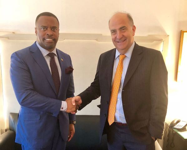 (L-r) Hon. Mark Brantley, Foreign Minister of St. Kitts and Nevis and US Principal Deputy Assistant Secretary of State, Ambassador Kenneth Merton