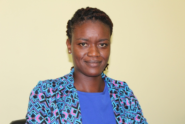 Ms. Rhosyll Jeffers, Assistant Secretary in the Ministry of Agriculture with responsibility for Disaster Management on Nevis