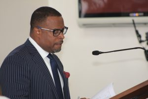 Hon. Mark Brantley, Premier of Nevis at a sitting of the Nevis Island Assembly on October 04, 2018