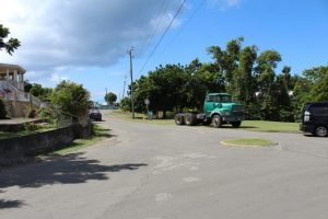 Another section of the first phase of the Nevis Island Administration's Bath Village Road Rehabilitation Project at Bath Village on October 23, 2018