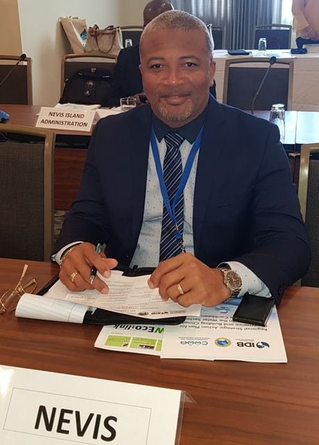 Hon. Spencer Brand, Minister responsible for Water Services in the Nevis Island Administration (NIA), pledged to continue to work with regional and international partners to make the water sector on Nevis climate resilient.