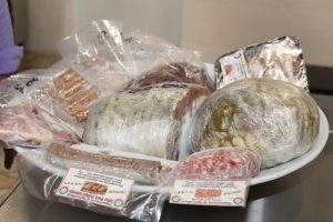 More products from the Nevis Abattoir on display following the commissioning of the abattoir's new Processing Wing at Prospect on October 17, 2018