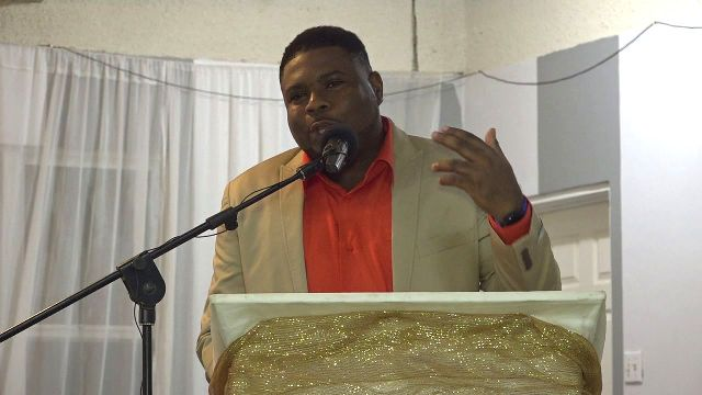 Hon. Troy Liburd, Jr. Minister in the Ministry of Education on Nevis at the Nevis Teachers' Union Cocktail and Dance at Occasions on November 03, 2018