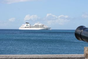 Cruise ship MV Seabourn Odyssey calls on Nevis during the 2017 Cruise Season (file photo)