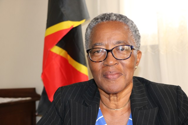 Photo caption: Deputy Governor-General of Nevis Her Honour Hyleeta Liburd at her office at Bath Plain on January 30, 2019