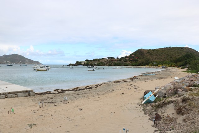The existing area at Oualie Bay where water taxis operate