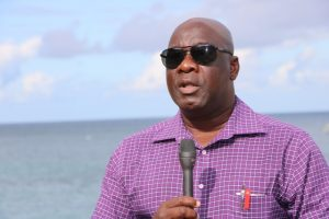 Hon. Alexis Jeffers, Deputy Premier of Nevis at Oualie Bay on January 29, 2019