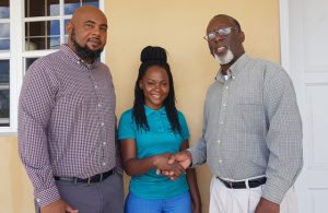 (L-r) Mr. Huey Sargeant, Marketing Chairman of the Culturama Committee; Ms. Verneen Williams, winner of the Culturama Secretariat's 2019 Nevis Culturama Festival Slogan Competition and Mr. Abonaty Liburd, Executive Director of the Culturama Secretariat on February 11, 2019