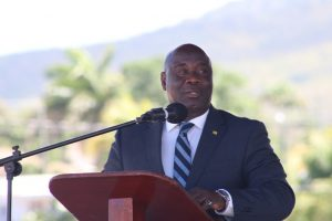NIA CHARLESTOWN NEVIS (March 29, 2019) — The following is the full text of the address delivered by Hon. Alexis Jeffers, Deputy Premier and Minister of Agriculture in the Nevis Island Administration at the 25th Annual Agriculture Open Day opening ceremony on March 28, 2019 at the Elquemedo Willet Park. The 25th Anniversary of the Agriculture Open day, is in many ways, a success story for the Agriculture Sector on the Island of Nevis. For the Ministry and Department, it is a vehicle through which we showcase what is being done and what is possible in Agriculture. It is a chance for us to inspire and encourage farmers, and the youth, towards the possibilities that exist within the sector. If we do a comparison of our conditions and the resources that were available in 1994 and now in 2019, the only resource that has perhaps remained the same is the land. And that is why we have impressed upon our farmers to utilize the land more, to produce more, so as to earn more. In 25 years, we have seen changes in our climate (weather patterns, temperatures, rainfall, frequency and intensity of Storms), we have seen the introduction of better irrigation techniques, shade house production and the development of organic products so as to assist in production to ensure that we have safer food. Of course, we have had changes in Administrations, policies and personalities that have driven agriculture over the years. These are just a few of the changes that would have taken place but the Goal has always been more or less the same, which is to ensure as much local production as possible take place. Whether it is in the crop or livestock side of agriculture. One cannot help but wonder about that first meeting that was held by the former Minister of Agriculture the late Hon Malcolm Guishard, former Permanent secretary Elmo Liburd (Patron), former Director of Mr. Augustine Merchant and their support staff when they sat down to plan this activity. Whether they saw this far into the future and whether this activity, 25 years later, is something they are proud of. I will say that the answer is a resounding yes...because if we were cast out minds back to 1994 when this event started in Prospect, it was a one day event for just about the first seven years. The event grew to the point where it was extended to two days and moved to the Villa Grounds because it began to exceed its expectations. And over the next 21 years we have had additional crop products being added by the Department and our farmers, additional meat product from our Abattoir and butchers, new and innovative products from our agro processing unit and agro processors, displays by our fisher folks and increased participation by our Allied agencies, partners and stakeholders. Over the past years and up to today we have had the perennial journey being made by our friends from St Eustacius, St Maarten, St Croix other regional territories and the University of the West Indies. This year the theme for the Celebration is 'Think Climate Smart, Food and Nutrition Security and Sustainability for our 25th Anniversary. The key ideas in the theme can be easily identified with; for example, the climate has changed especially in terms of temperature, where 2017 and 2018 were the two hottest years for the planet ever recorded in history. In fact 2017 saw record breaking temperatures for just about every day of that year. This phenomenon brings with it numerous challenges to farmers and farming. These include scarcity of water leading to severe droughts, reduced production and yields etc. Looking further at the theme, we have been speaking about food security for many years, however we have to continue to put measures in place so as to ensure that food is readily available to our citizens, that it is accessible and most importantly, it is affordable. The final key term to look at is sustainability in the context of production and supply of food to our people. We all need food on a daily basis and such we must avoid damaging or wasting natural resources or contributing to climate change which can affect food production. Further, farming should be practiced in a way that ensures that food is produced, processed, distributed and disposed of in ways that provides social benefits. Such social benefits include food that is safe to consume, food of the highest quality and food that maintain our health and well being. For 25 years we have showcased what is possible, while we celebrate this two day event we have to step back and ask ourselves whether we have enough youths coming into the sector, are the existing farmers making a big enough impact or do we have enough persons farming. When we look at our food import statistics and bills we see a sector that is valued in excess of 60 million dollars annually. We are currently looking at our statistics to make sure we understand how much of the fresh fruit, vegetable and meat is imported. Based on our land size and space we know we cannot stop the importation of food, however imagine if we have our farmers putting 10 or 20 million dollars in their pockets and letting that money stay in our economy. Opportunities exist for local produce to successfully compete with imported products as interviews carried out with hotels and restaurants revealed that supply managers prefer to purchase local vegetables and fruits since they taste better, maintain their freshness thus having a longer shelf life. Ideally, higher production yields will decrease the current cost of production, making local produce more competitive. As you walk around today and tomorrow do not only enjoy the atmosphere but look at the possibilities that exist. Visit the Extension Booth and look at how you can grow lettuce, tomatoes, herbs and thyme in your back yard or porch, visit the Abattoir and livestock areas to see areas where you can do your part to cut down on the importation of mutton, pork or beef. Support the farmers of Nevis who continue to produce fresh and high quality nutrient rich food. Even if you don't want to do agriculture directly there are support services that you can provide to farmers such as transportation, accounting and record keeping, cleaning of weeds from around farms, agro processing and so much more. There is the need to better integrate information and communication technologies into the sector which in turn improves efficiency and we are looking for young and passionate people to do this. From the Ministry we are looking at the possibility of directly working with a core group of farmers, pushing specific products on the crop side. On the livestock side in the first instance we are pushing the increase in mutton production. We recognise that to transition successfully, farmers need increased access to technical and financial assistance to achieve further commercialisation. We would be extremely happy to meet the food demands from the tourism industry, however and most importantly we have to feed the residents of our island. Our people from both a health and economic perspective deserve to have access to local nutrient rich and safe foods. We have seen in the news and in social media that strange things can happen in food production such as the supply of plastic rice and plastic cabbages, we have waxy films and preservative chemicals on fruits and vegetables that are shipped to our shores. We have begun the consultative process to address some of the weaknesses and problems that exist in the sector. We will be looking and the policies and framework that are needed to lend additional support to our farmers. The thing is, we want Farmers to make food available and chastise them for not producing more, but we must acknowledge that farmers are also business people who are taking huge risks to make sure there is food available. We must continue to support them in facing the challenges such as pests and diseases which are prevalent climate change, praedial larceny or stealing of produce at the harvesting stage and effective marketing. If there are no rewards for our farmers when they work, we cannot expect continuity because this is not a charitable duty. As we look to the next 25 years as a people we have to support each other with consumers supporting farmers, farmers supporting consumers and most importantly our health, tourism and the agriculture sectors all support each other. As a community we have to look after each other so that we can all achieve - Nevis is too small to have everyone believing they can do it alone – it is either we all rise together or we fall together. Thanks you for listening, may you have two wonderful days here at our 25th staging of our Agriculture Open day 2019. Buy as much as you can, learn as much as you can and most of all enjoy as much as you can. May God bless you, bless this event and bless this beautiful Island. I thanks you.
