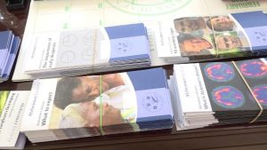 Some of the health literature donated to the Ministry of Health on Nevis by the St. Kitts and Nevis Circle of Care based in Toronto, Canada