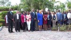 A section of the present at the opening ceremony of the 14th annual AML/CFT Conference hosted by the Financial Services Regulatory Commission – Nevis Branch on March 11, 2019 at the Four Seasons Resort, Nevis