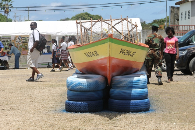 The boat exhibit at the then Department of Fisheries booth at the Agriculture Open Day in 2017