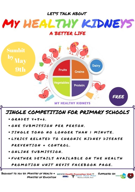 My Healthy Kidneys Jingle Competition Flyer