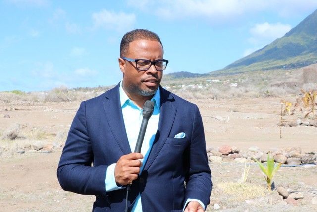 Hon. Mark Brantley, Premier of Nevis at New River on April 23, 2019