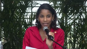 Mrs. Nadine-Carty Caines, Coordinator of the Health Promotion Unit in the Ministry of Health on Nevis