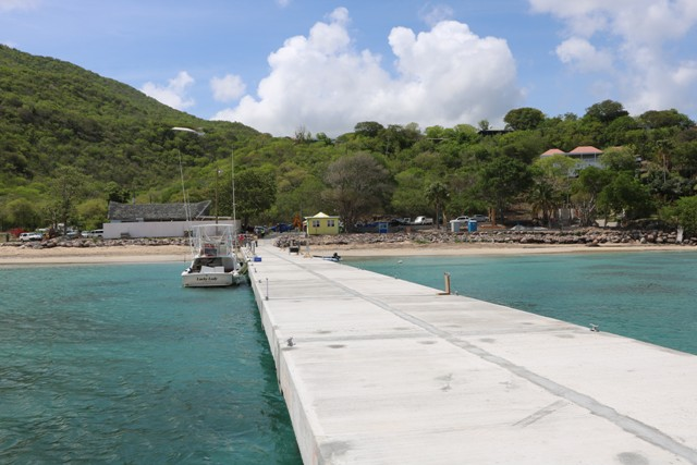 A section of the new water taxi pier at Oualie Bay on May 20, 2019