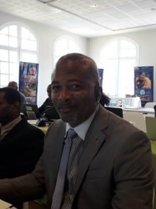 Hon. Spencer Brand at a session on May 16, 2019, at the 6th Organisation of Eastern Caribbean States (OECS) Commission's Council of Ministers of Environmental Sustainability meeting taking place in Martinique