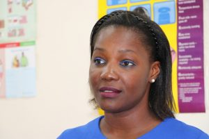 Ms. Latoya Matthew-Duncan, Nutrition Surveillance Coordinator in the Health Promotion Unit in St. Kitts, at the Alexandra Hospital's Maternity Ward on May 23, 2019