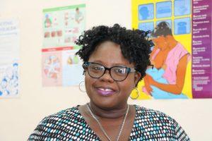 Hon. Hazel Brandy-Williams, Junior Minister of Health at the Alexandra Hospital's Maternity Ward on May 23, 2019