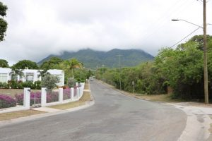 A stretch of road looking toward the Cotton Ground junction area in which Phase I of the road rehabilitation project is expected to commence shortly on the Island Main Road leading to the Vance W. Amory International Airport