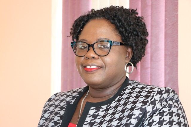 Hon. Hazel Brandy-Williams, Junior Minister of Health and Gender Affairs in the Nevis Island Administration at her Charlestown office on June 18, 2019