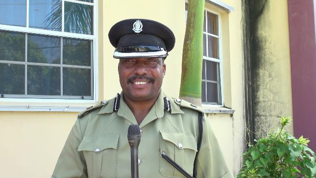 Superintendent Lyndon David, Divisional Commander of Division C of the Royal St. Christopher and Nevis Police Force