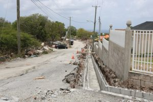 Drain under construction in the Craddock Road Rehabilitation Project on July 23, 2019