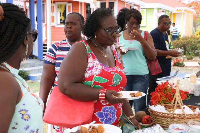 Patrons attending the 5th annual St. Kitts and Nevis Restaurant Week Tasting Showcase at the Artisan Village hosted by the Ministry of Tourism on July 20, 2019