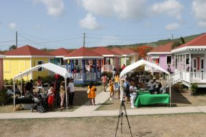 A section of the Ministry of Tourism's Artisan Village during the 5th annual St. Kitts and Nevis Restaurant Week Tasting Showcase on July 20, 2019