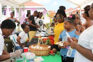 More patrons attending the 5th annual St. Kitts and Nevis Restaurant Week Tasting Showcase at the Artisan Village hosted by the Ministry of Tourism on July 20, 2019
